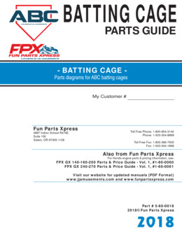 Batting Cage Parts Guide 2018
