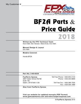 Honda BF2A Parts Guide 2018
